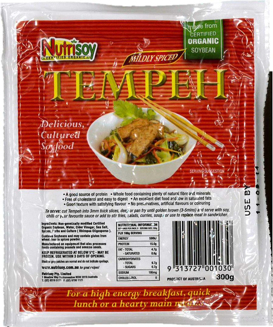 nutrisoy spiced tempeh