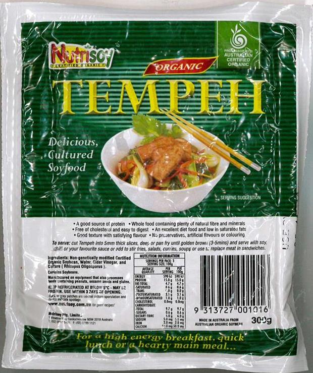 nutrisoy tempeh