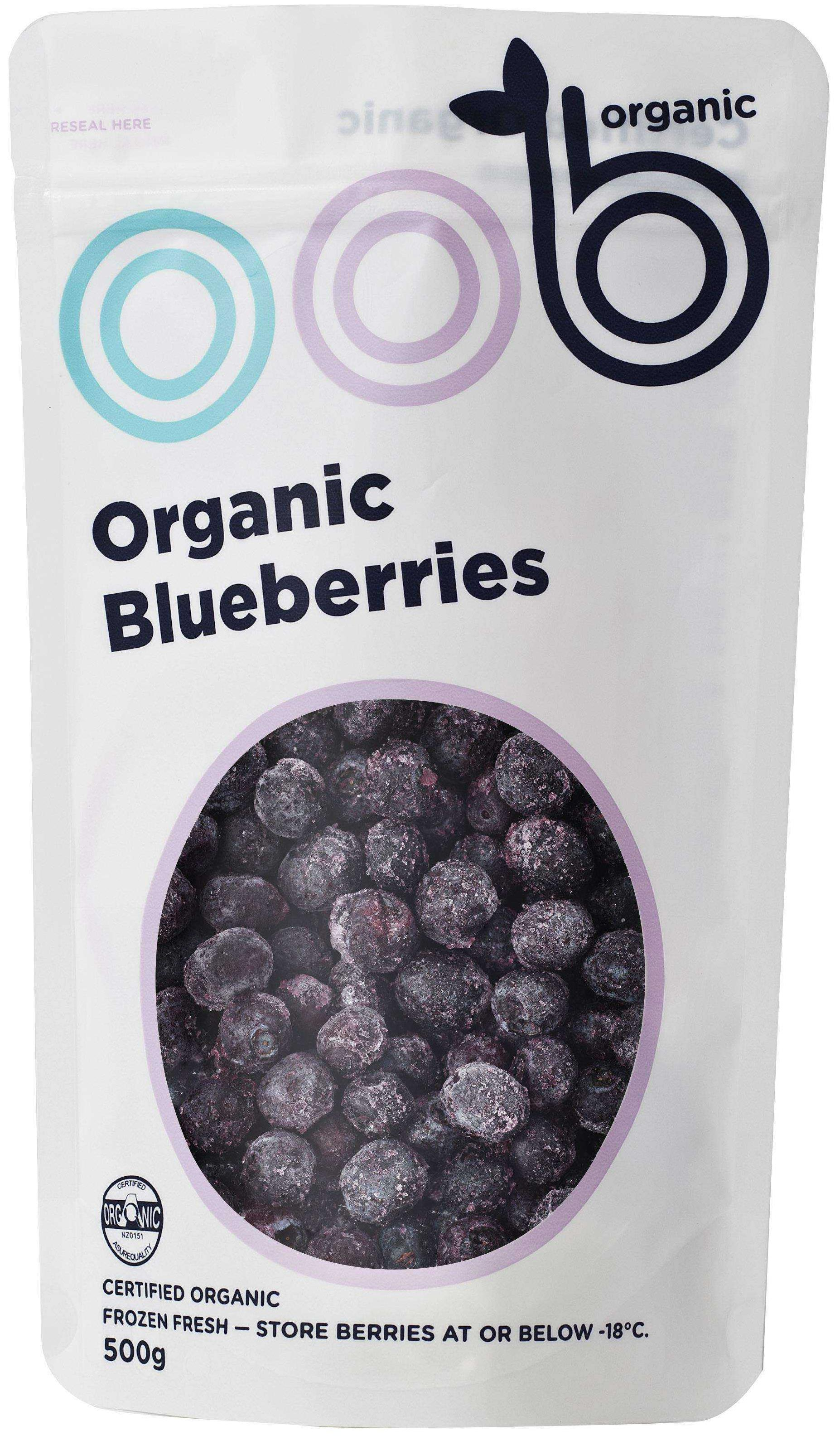 oob frozen organic blueberries
